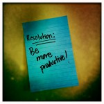 Resolution: Be more productive!