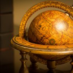 Photo of an antique globe.