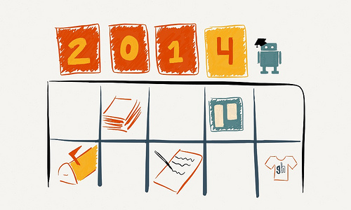 Graphic of organizational goals for 2014
