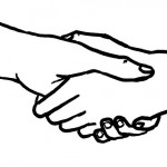 graphic of two people shaking hands