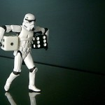 Graphic of stormtrooper holding die